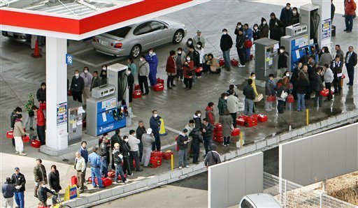 Line for Gas in Japan