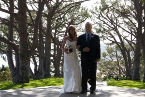 Kayla and her Father at the Chapel