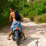 Kenny on a motorbike in Thailand