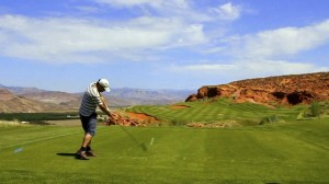 Kenny golfing at Sand Hollow - Hurricane, UT