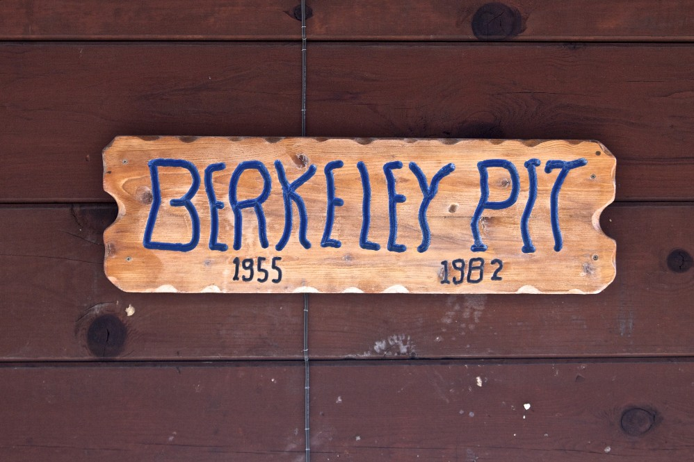 Berkeley Pit Sign in Butte, Montana