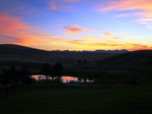 Grey Cliffs Ranch Sunset in Three Forks, Montana