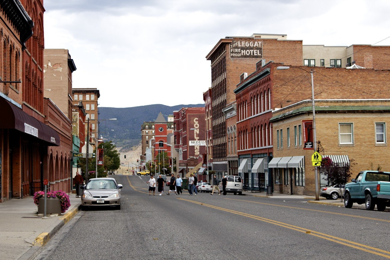Streets of Uptown Butte, Montana