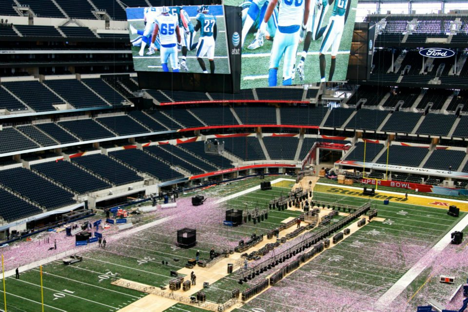 Cowboys Stadium after Super Bowl