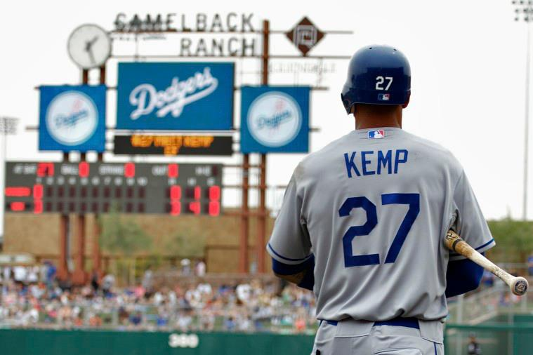 Matt Kemp at Los Angeles Dodgers Spring Training