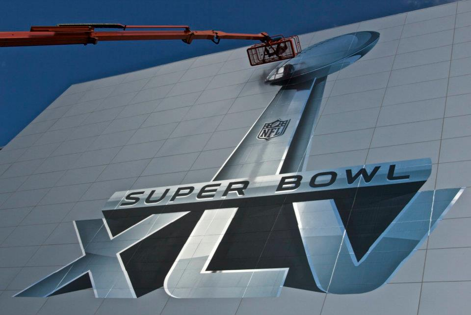 Super Bowl XLV at Cowboys Stadium in Dallas