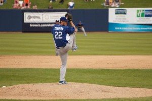 Kershaw Pitching at Dodgers Spring Training