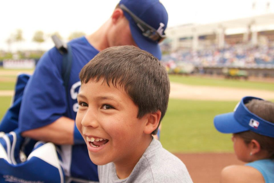 Kid at Dodgers Spring Training