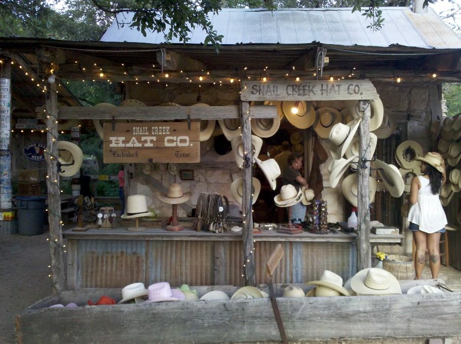 Luckenbach Texas Snail Creek Hat Co.